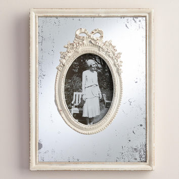 White Wooden Mirrored Margo Frame - World Market