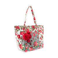 THE CLEAR CHOICE TOTE: Betsey Johnson