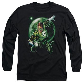 Green Lantern - Galaxy Glow Long Sleeve Adult 18/1 Officially Licensed Shirt