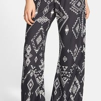 Junior Women's Billabong 'Midnight Hour' Print Beach Pants