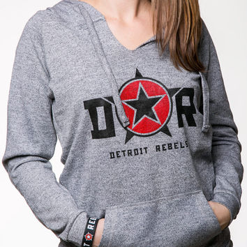 DETROIT ★ REBELS |  Tunic Hoodie Twisted Yarn (11772DR)