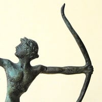 Bronze Statue - Archer Athlete Ancient Greek
