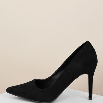 Plain Pointed Toe Classic Stiletto Heel Pumps