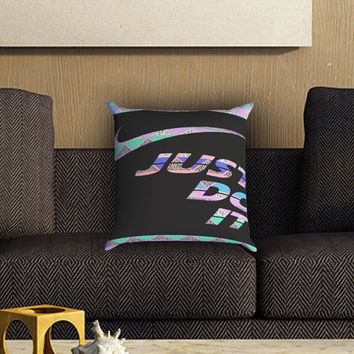 Nike Just Do It Aztec Pastel Pillow Cover , Custom Zippered Pillow Case One Side Two SIde
