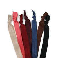 Knotted HAIRBANDS - Fold Over Elastic HEADBANDS Fall Colors - Athletic Headbands for the Gym - Stay Put Headbands for Running, Work Out