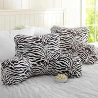 Lounge Around Pillow, Funky Zebra