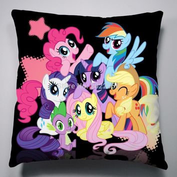 Anime Manga My Little Pony Rainbow Horse Pillow 40x40cm Pillow Case Cover Seat Bedding Cushion 010