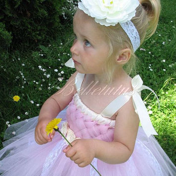 Woven tutu dress –lace tutu dress – flower girl tutu – baby tutu dress – wedding tutu dress – birthday tutu dress – party tutu dress