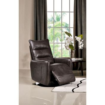 Keaton Push-Back Reclining Accent Chair in Taupe Air Leather by Diamond Sofa