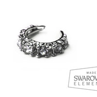 Swarovski Crystal FAKE SEPTUM - Nose Cuff  - No Piercing - Nose hoop - Crystal septum - Septum ring - Jeweled nose ring  - Non pierced nose