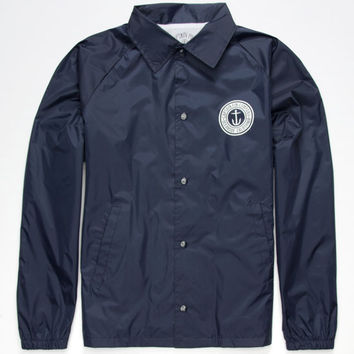 Captain Fin Anchor Button Mens Windbreaker Navy  In Sizes