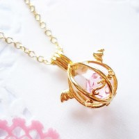Handmade Gifts | Independent Design | Vintage Goods Angelic Dragon's Egg Necklace - Gold - Girls