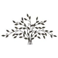 Tree of Life Wall Art Tips Leaves Metal Hanging