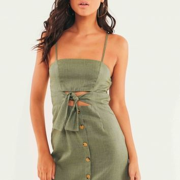 Coventry Dress - Khaki