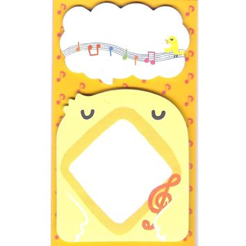 Chick Bird and Speech Bubble Shaped Animal Themed Memo Sticky Post-it Note Pad