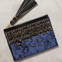 Rafe Beaded Satin Clutch Blue One Size Clutches