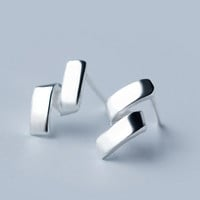 Personality twisted line 925 Sterling Silver earrings, a perfect gift