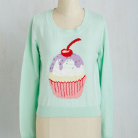 Food Long Sleeve Confectionary Perfectionist Sweater by ModCloth