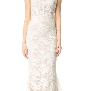 Angelica Lace Strapless Gown