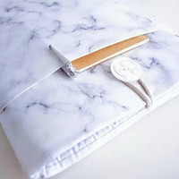 "Marble Fabric MacBook Case  New 13"" MacBook Pro Case 15"" MacBook Pro Sleeve 13 inch MacBook Air Case Laptop Custom Size 11-15.6 inch"
