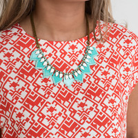 Rock To The Beat Turq Tribal Necklace