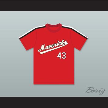 Jim Bouton 43 Portland Mavericks Baseball Jersey The Battered Bastards of Baseball