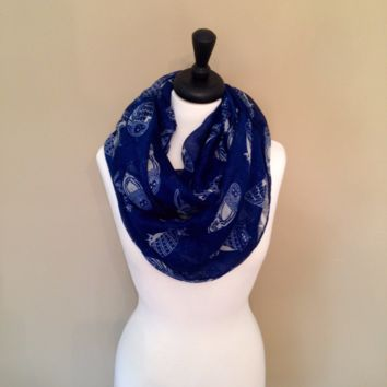 Owl Infinity Scarf by KnitPopShop