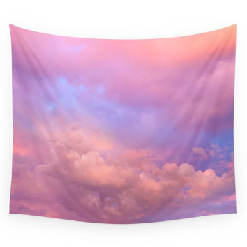 Society6 See The Dawn (Dawn Clouds Abstract) Wall Tapestry