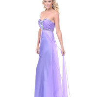 Lilac Chiffon Rhinestone Sweetheart Prom Dress - Unique Vintage - Prom dresses, retro dresses, retro swimsuits.