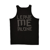 Leave Me Alone Tank Black (Clearance)