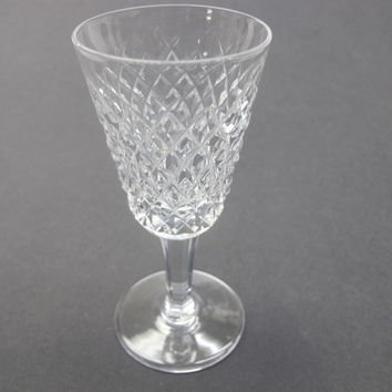 Alana Signed Waterford CUT GLASS sherry stem crystal Ireland