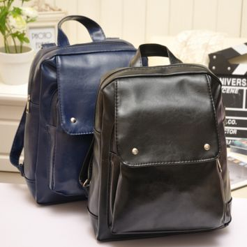 Large Leather Vintage Style Backpack