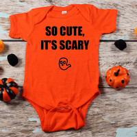 So cute its scary funny baby Onesuit