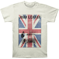 Beatles Men's  John Lennon White Piano Slim Fit T-shirt Vintage Rockabilia