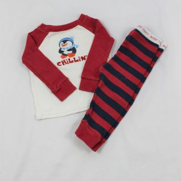 Boys Faded Glory Penguin Pajama Set, size 6-9 months
