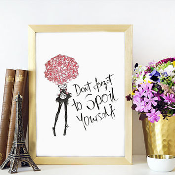 MAKEUP ART Makeup Sign,Rose Floral,Girl Illustration,Fashion Print,Wake Up And Makeup,Bathroom Wall Art,Fashionista,Wall Art,Makeup Quote,