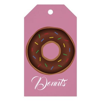 Donuts: Gift Wrapping Paper Supplies Gift Tags