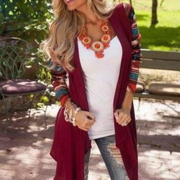 A Touch of Fall Burgundy Cardigan
