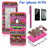 Totem Protective Case For Iphone 4/4s with pen and sticker (3)