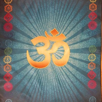 OM AUM Cloth Symbol YOGA chakra Meditation Pillow Mat