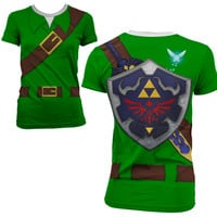 Full Print Link Costume Tunic Womens T Shirt XS-3XL from Much Needed Merch
