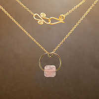 Necklace 1-54 - choice of stone - GOLD