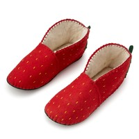 Foodie Slippers Strawberry | novelty slippers