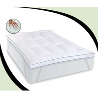 Twin XL Size 3 Inch Thick Fiber Bed Memory Foam Mattress Topper With Anchor Bands