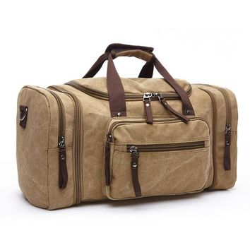 Original Canvas Travel Bag Men Hand Luggage Travel Duffle Bags Weekend Bag Luggage Multifunctional Travel Bags Overnight