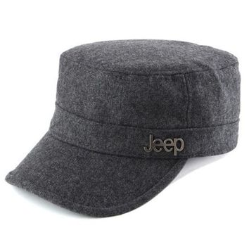 CREY9N Jeep Women Men Flat Cap Sun Peaked Cap Leisure Hat