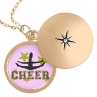 Cheerleader  gold plated locket