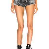 Unravel Cloudy Lace Up Short in Black   FWRD