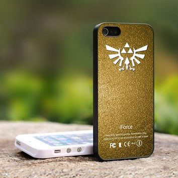 The Legend of Zelda iForce GoldTrif - For iPhone 4,4S Black Case Cover