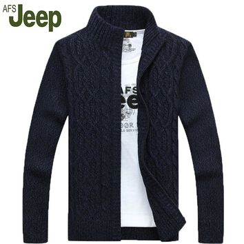 AFS JEEP 2016 autumn and winter fashion men's long-sleeved sweater latest Battlefield Jeep casual men's cardigan sweater 80